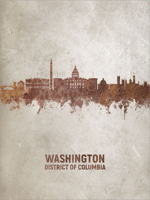 Washington DC Skyline Cityscape Poster Art Print