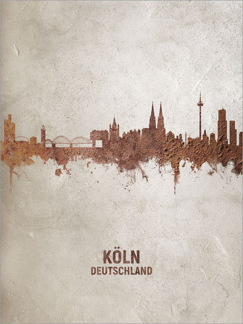 Cologne Germany Skyline Cityscape Poster Art Print
