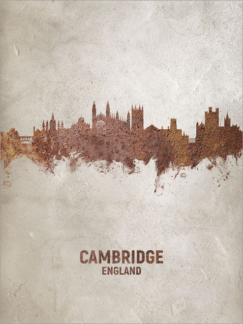 Cambridge England Skyline Cityscape Poster Art Print
