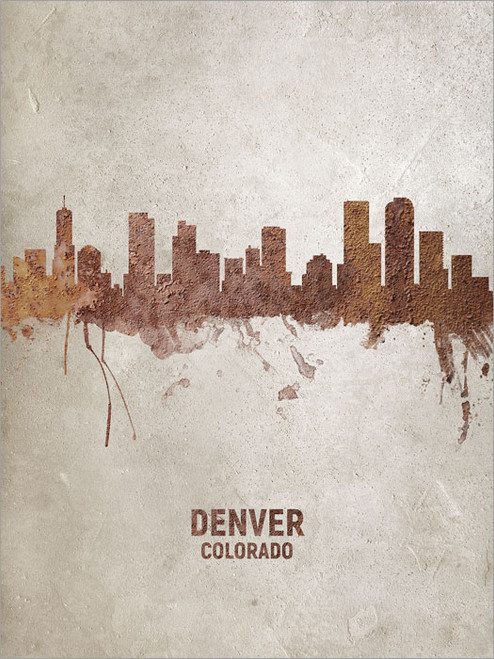 Denver Colorado Skyline Cityscape Poster Art Print