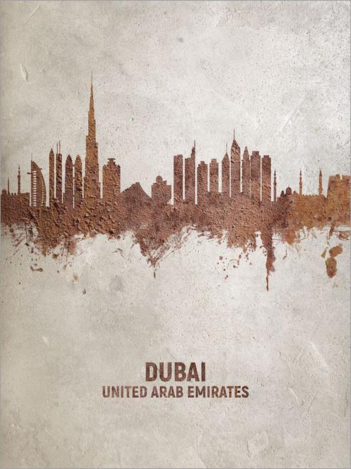 Dubai United Arab Emirates Skyline Cityscape Poster Art Print