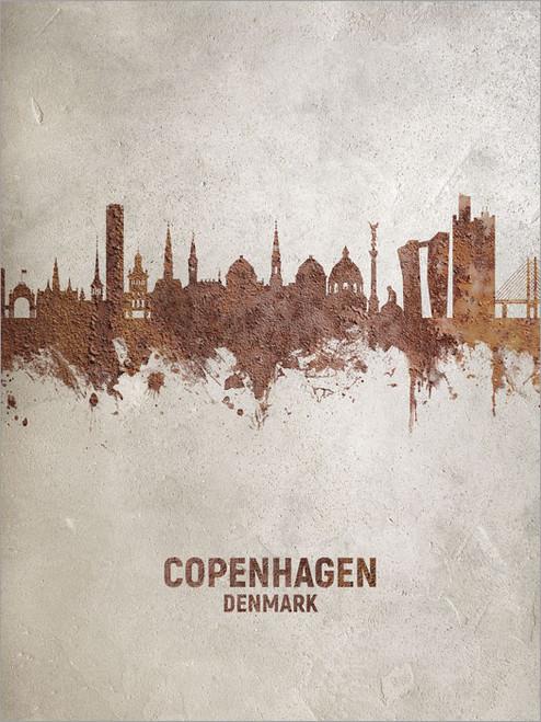Copenhagen Denmark Skyline Cityscape Poster Art Print