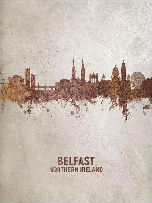 Belfast Northern Ireland Skyline Cityscape Poster Art Print