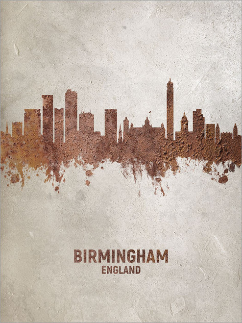 Birmingham England Skyline Cityscape Poster Art Print