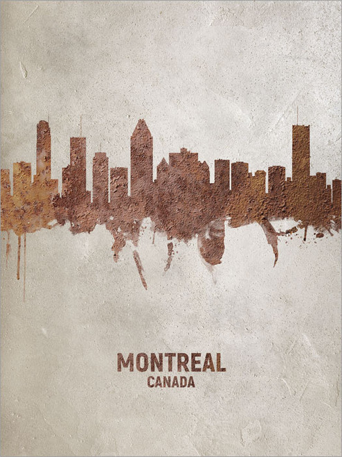 Montreal Canada Skyline Cityscape Poster Art Print