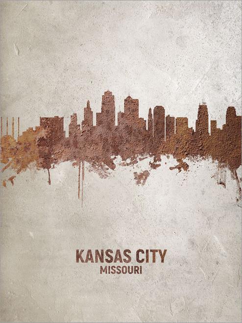 Kansas City Missouri Skyline Cityscape Poster Art Print