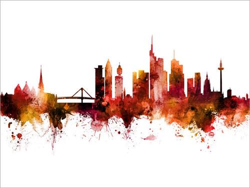 Frankfurt Deutschland Skyline Cityscape Poster Art Print
