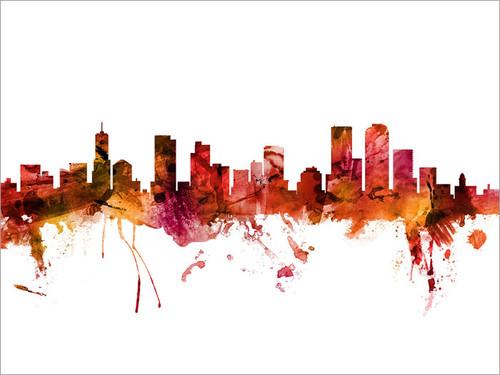Denver Colorado Skyline Cityscape Poster Art Print