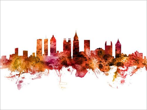 Atlanta Georgia Skyline Cityscape Poster Art Print
