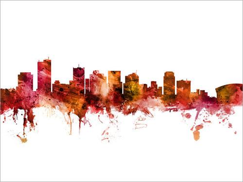 Phoenix Arizona Skyline Cityscape Poster Art Print