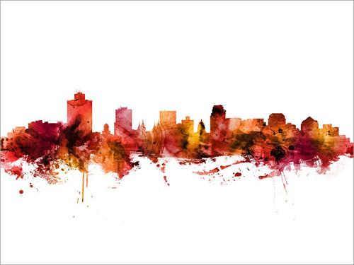 Salt Lake City Utah Skyline Cityscape Poster Art Print