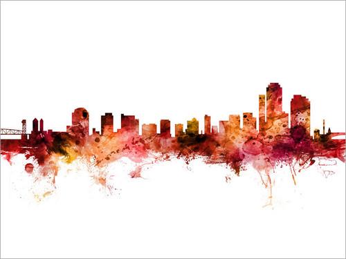Wilmington Delaware Skyline Cityscape Poster Art Print