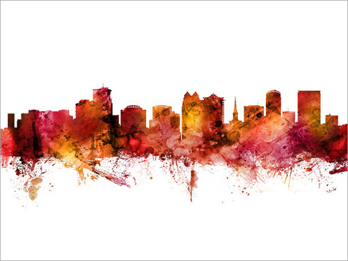 Orlando Florida Skyline Cityscape Poster Art Print