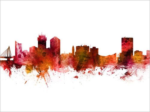 Wichita Kansas Skyline Cityscape Poster Art Print