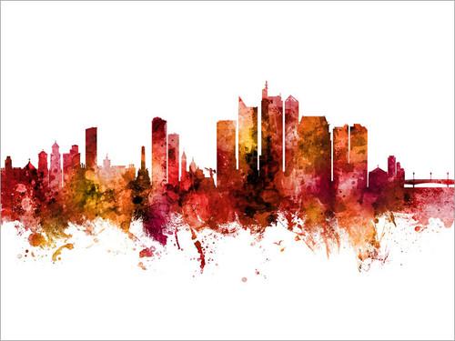 Manila Philippines Skyline Cityscape Poster Art Print