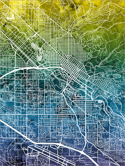 Boise Idaho Map Poster Art Print