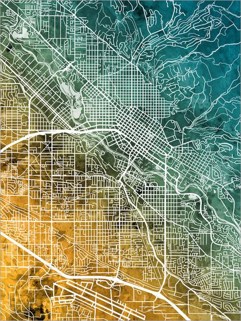 Boise Idaho Map Poster Art Print