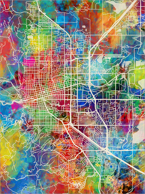 Boulder Colorado Map Poster Art Print