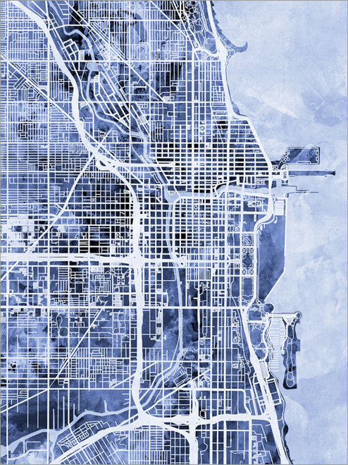 Chicago Illinois Map Poster Art Print