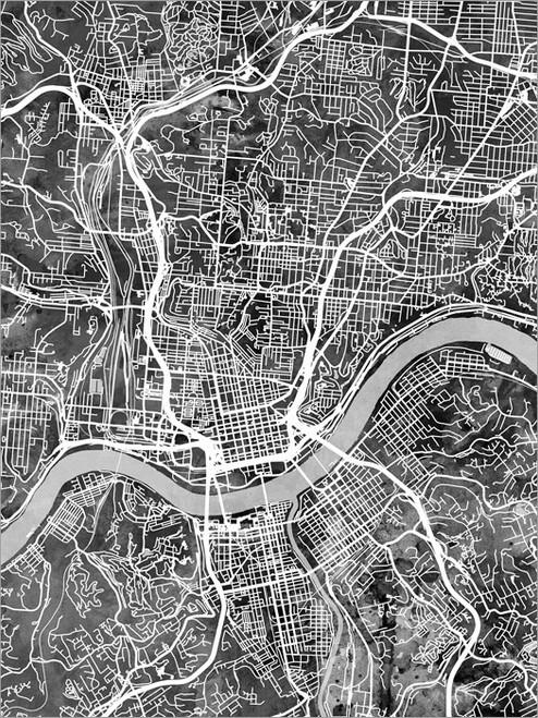 Cincinnati Ohio Map Poster Art Print