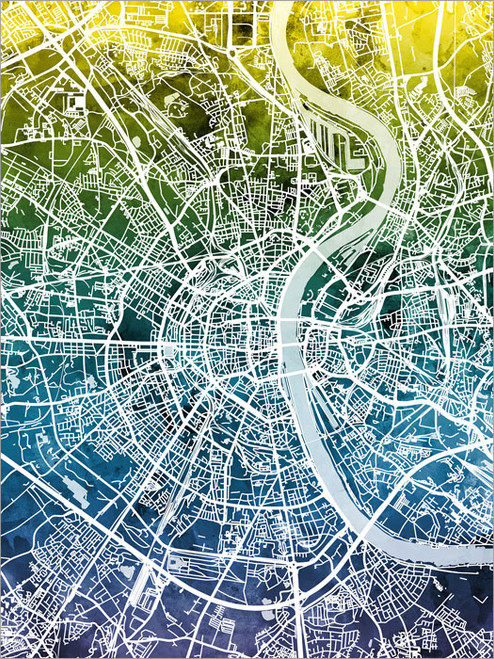 Cologne Germany Map Poster Art Print