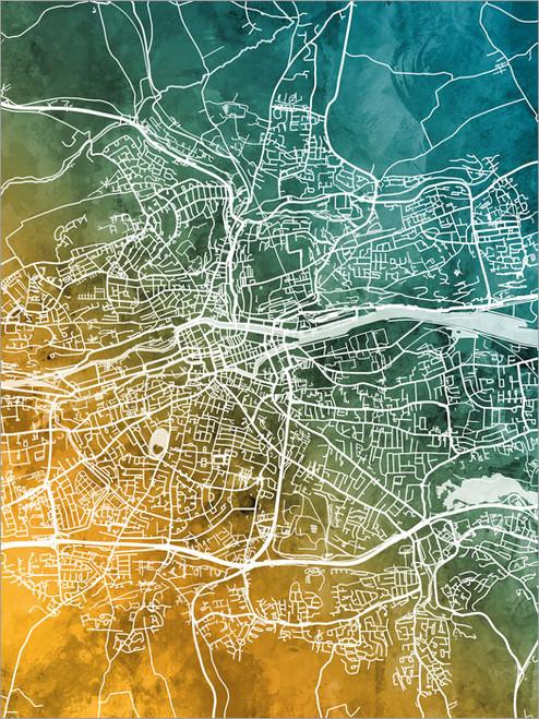 Cork Ireland Map Poster Art Print