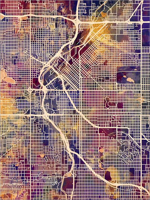 Denver Colorado Map Poster Art Print