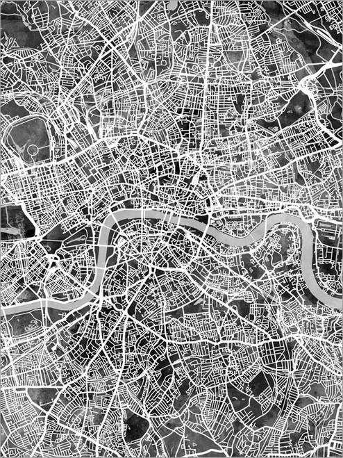 London England Map Poster Art Print