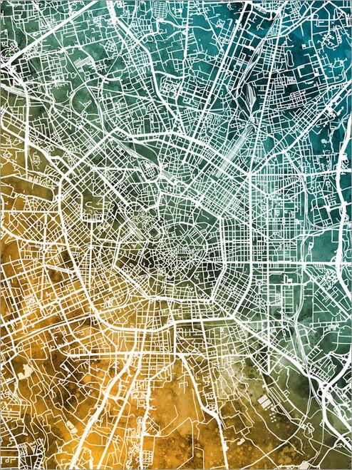 Milan Italy Map Poster Art Print