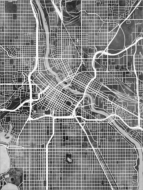 Minneapolis Minnesota Map Poster Art Print