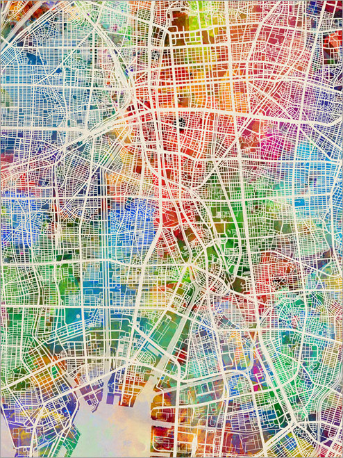 Nagoya Japan Map Poster Art Print