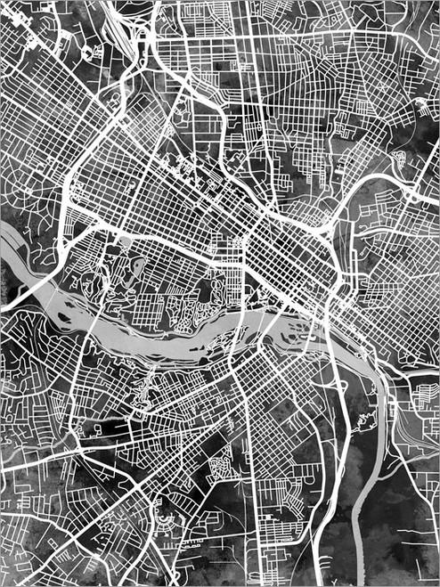 Richmond Virginia Map Poster Art Print