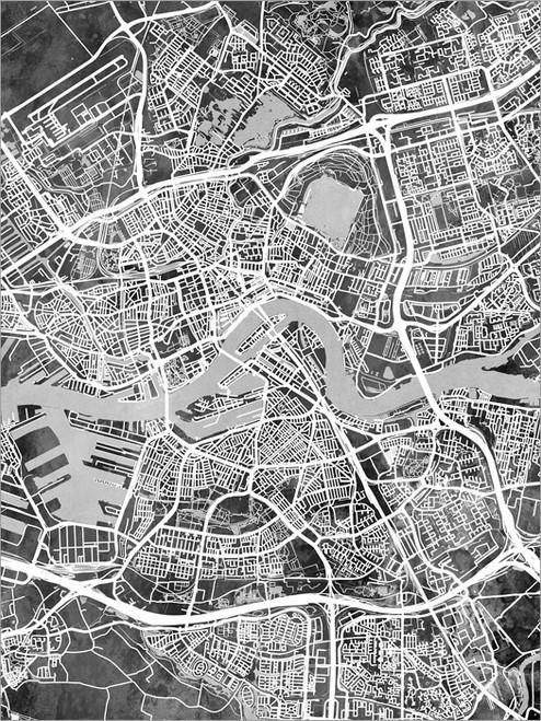 Rotterdam Netherlands Map Poster Art Print