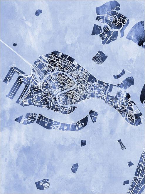 Venice Italy Map Poster Art Print
