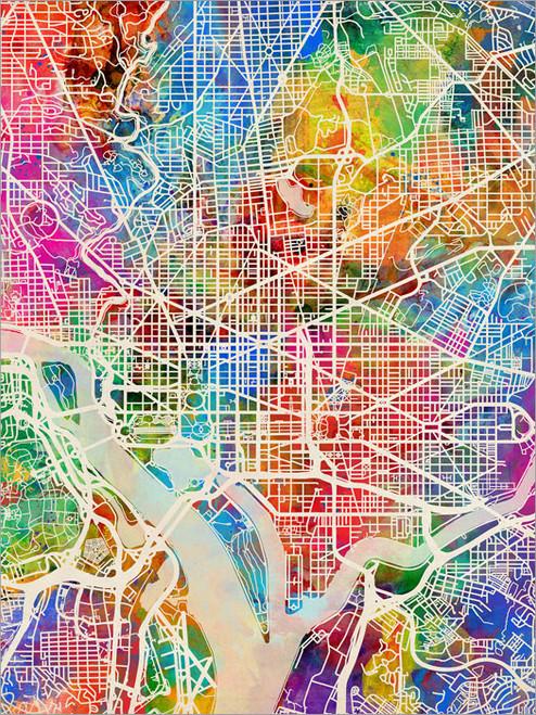 Washington DC Map Poster Art Print