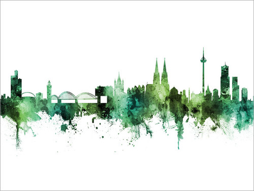 Cologne Deutschland Skyline Cityscape Poster Art Print