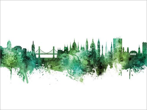 Budapest Hungary Skyline Cityscape Poster Art Print