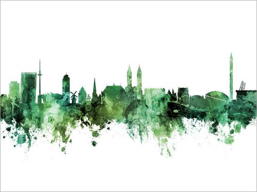Bremen Deutschland Skyline Cityscape Poster Art Print