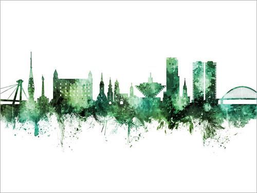 Bratislava Slovakia Skyline Cityscape Poster Art Print