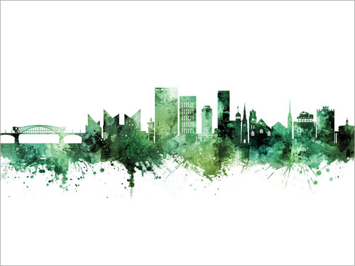 Chattanooga Tennessee Skyline Cityscape Poster Art Print