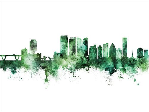 Fort Lauderdale Florida Skyline Cityscape Poster Art Print