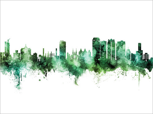 Birmingham Alabama Skyline Cityscape Poster Art Print