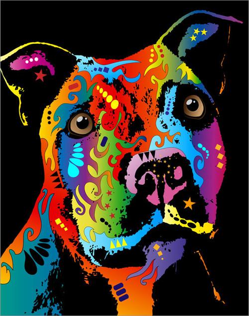 Staffordshire Bull Terrier Poster Art Print
