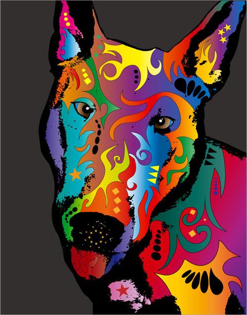 English Bull terrier Poster Art Print