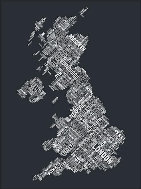 Great Britain Map Poster Art Print