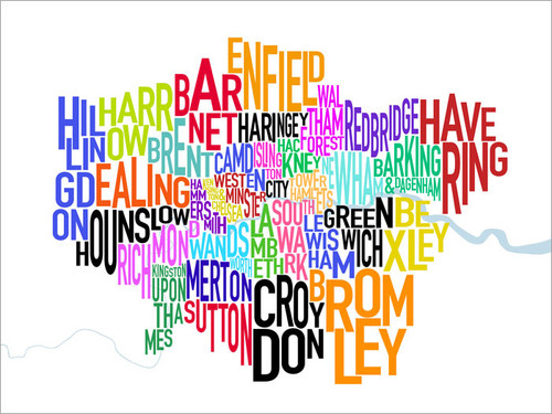 London Great Britain Map Poster Art Print