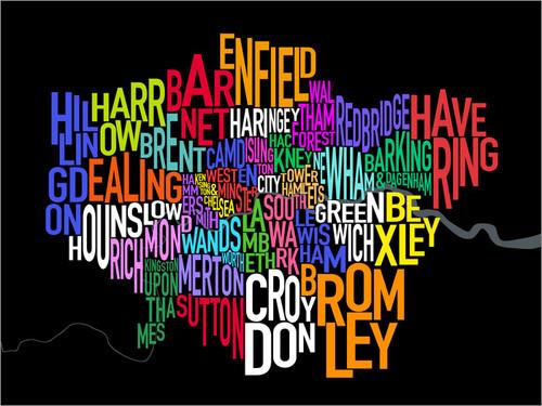 London Great Britain Map Poster Art Print