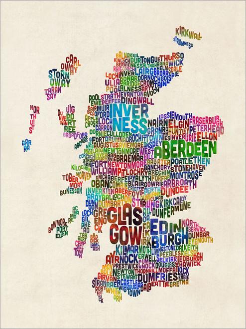 Scotland Poster Art Print