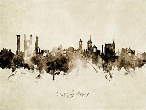 St Andrews Scotland Skyline Cityscape Poster Art Print