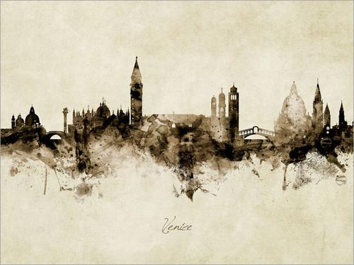 Venice Italy Skyline Cityscape Poster Art Print
